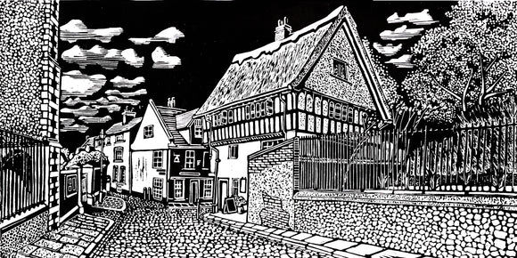 'Britons Arms, Norwich' Limited Edition Original Linocut