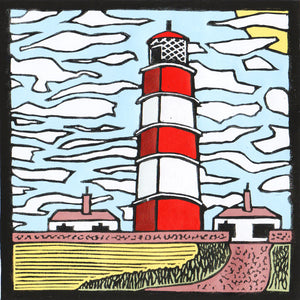 'Happisburgh Lighthouse' Limited Edition Original Linocut