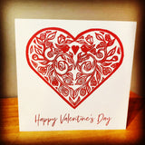 Valentine's Heart Card - Red