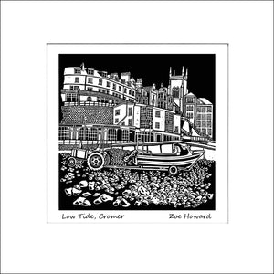 'Low Tide, Cromer' Limited Edition Original Linocut