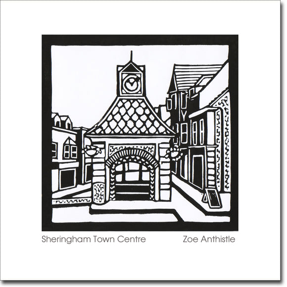 SALE ITEM - Greeting Card 'Sheringham Town centre'