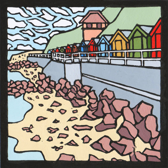 'Sheringham Seafront' Limited Edition Original Linocut