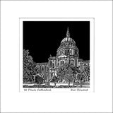 'St Pauls Cathedral, London' Limited Edition Original Linocut