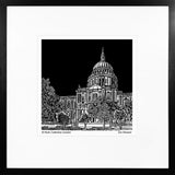 A print of my original handprinted linocut 'St Pauls Cathedral, London'.