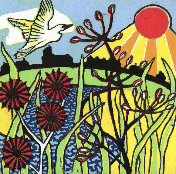 'Summer Rays' Limited Edition Original Linocut
