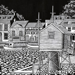'Wells next to the Sea' Limited Edition Original Linocut