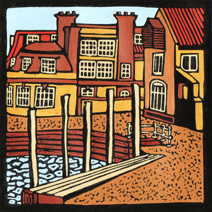'Blakeney Quay' Limited Edition Original Linocut