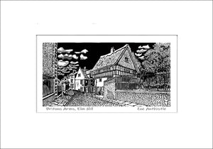 A print of my original handprinted linocut 'Britons Arms, Norwich'.
