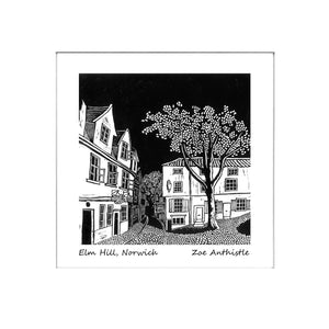 'Elm Hill, Norwich' Limited Edition Original Linocut