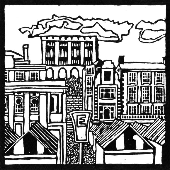 'Norwich City Centre' Limited Edition Original Linocut