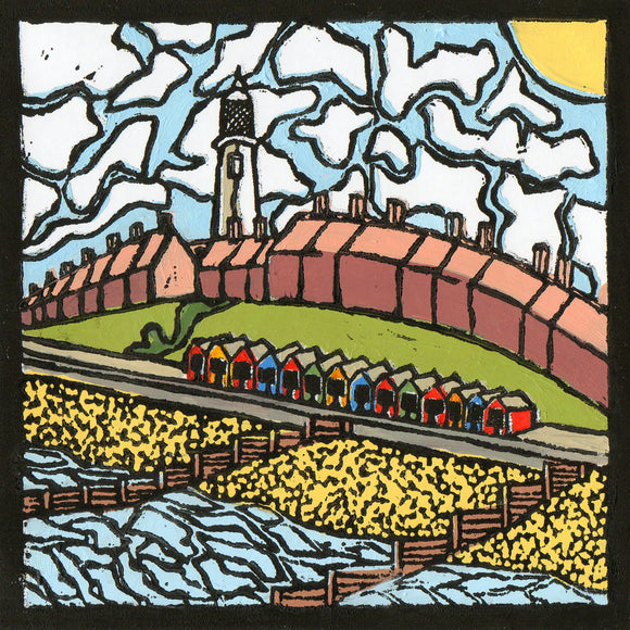 'Southwold Lighthouse' Limited Edition Original Linocut