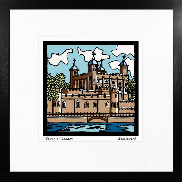 'Tower of London' Limited Edition Original Linocut