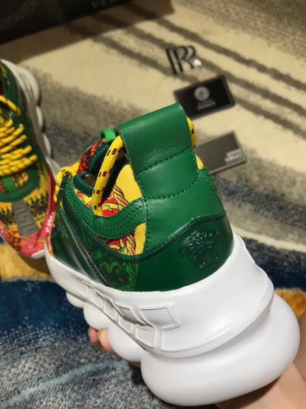 Versace Chain Reaction Trainers - Green