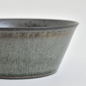 Trapezoid Lined Bowl (Blue black) ; Koji Kitaoka