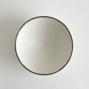 Bowl M (White Cloud with Bronze Rim) ; Wakako Senda