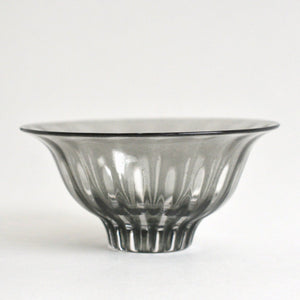 ren Bowl S #11 (clear gray) ; HiroyGlassStudio
