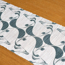 Load image into Gallery viewer, Linen table runner(eucalyptus;deep green) ; Yuiko Kamiyama