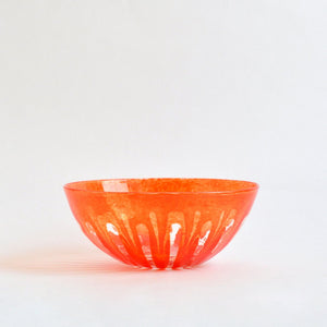 ren ; Bowl (L;Red) ; Hiroy Glass Studio