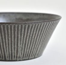 Load image into Gallery viewer, Trapezoid Shinogi Bowl (Blue black) ; Koji Kitaoka