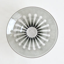 Load image into Gallery viewer, ren;Wide rim bowl (clear gray) ; Hiroy Glass Studio
