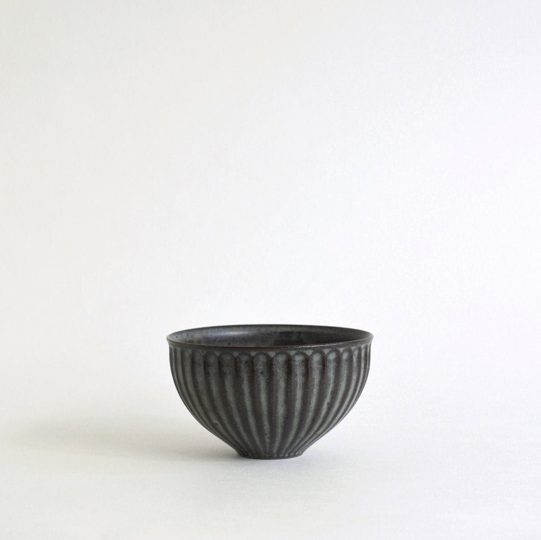 Shinogi Cafe au lait Bowl S (Blue Black)  ; Koji Kitaoka