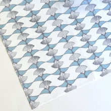 Load image into Gallery viewer, Handkerchief L - ougi (blue grey) / Yuiko Kamiyama