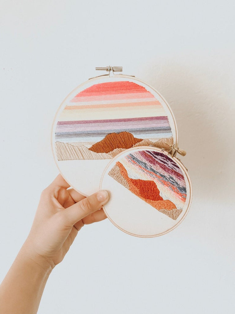 Sunset Embroidery Kit - Ellie & Becks Co.