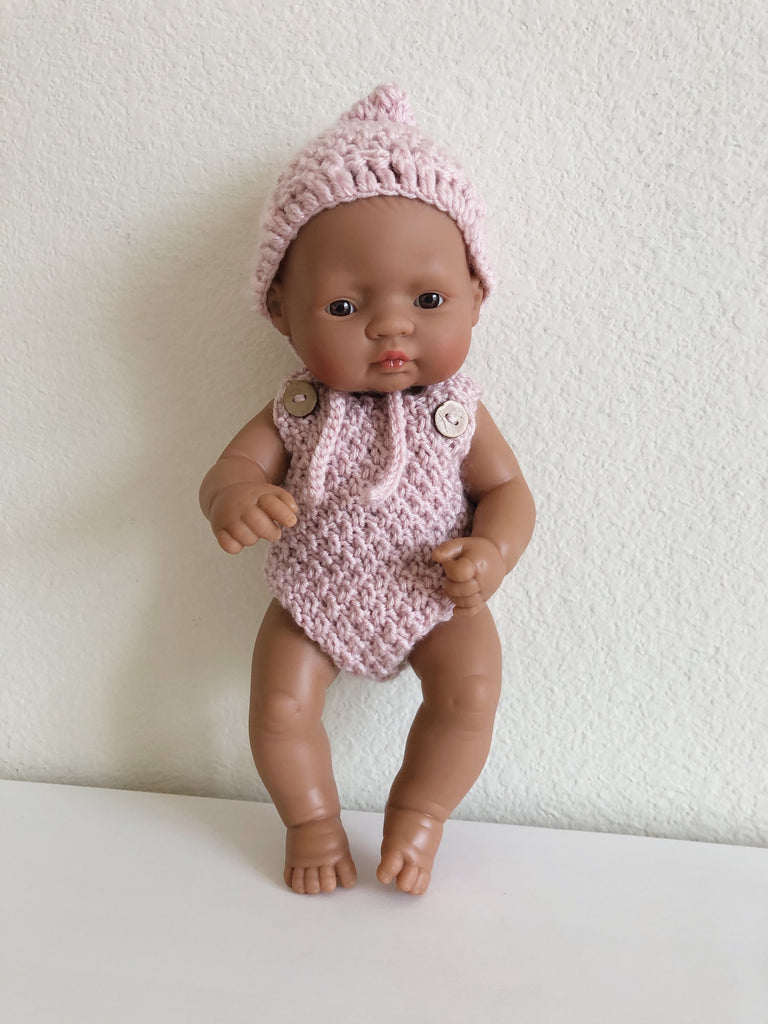 Miniland Newborn Girl Doll Hispanic 12 5/8 inch - Ellie & Becks Co.