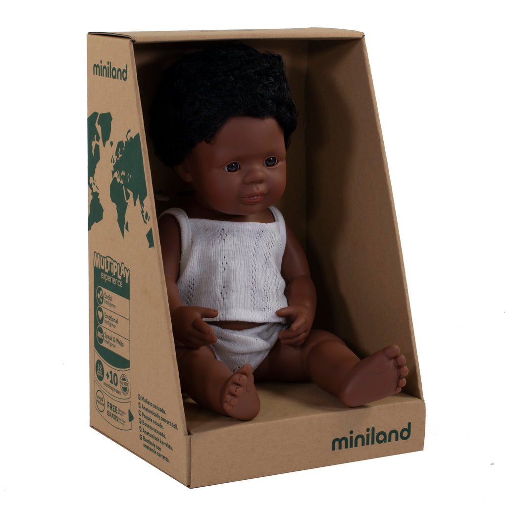 Miniland African American Boy - Ellie & Becks Co.