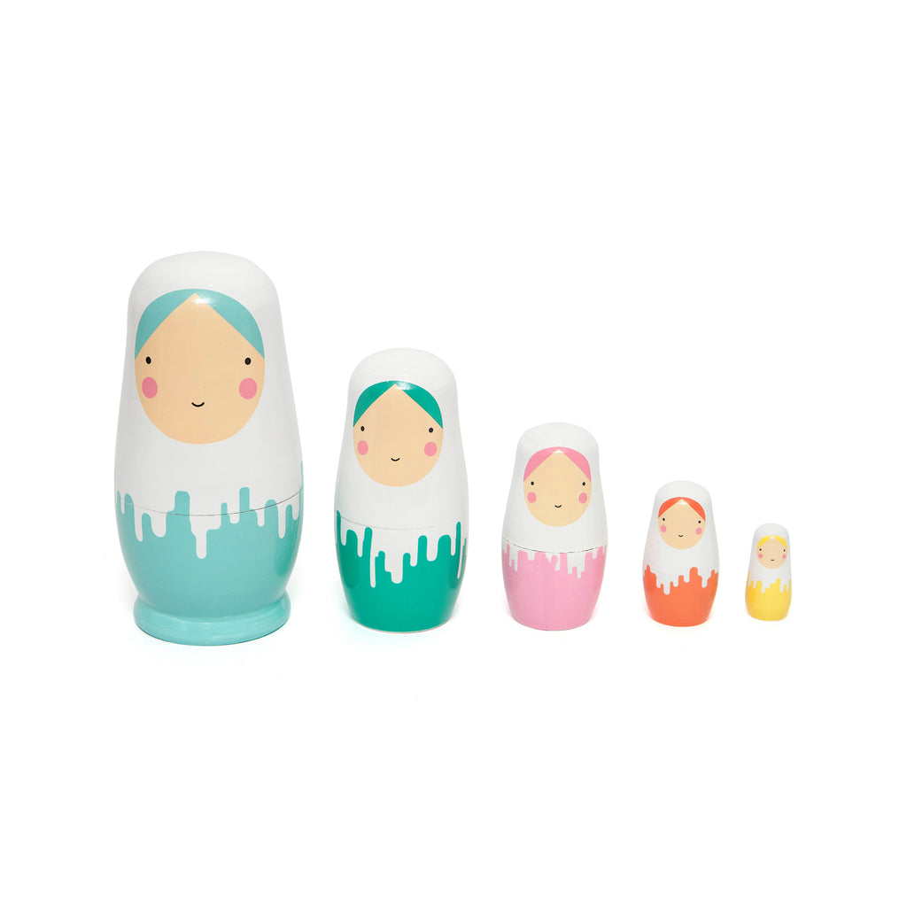 Dripped Nesting Dolls - Ellie & Becks Co.