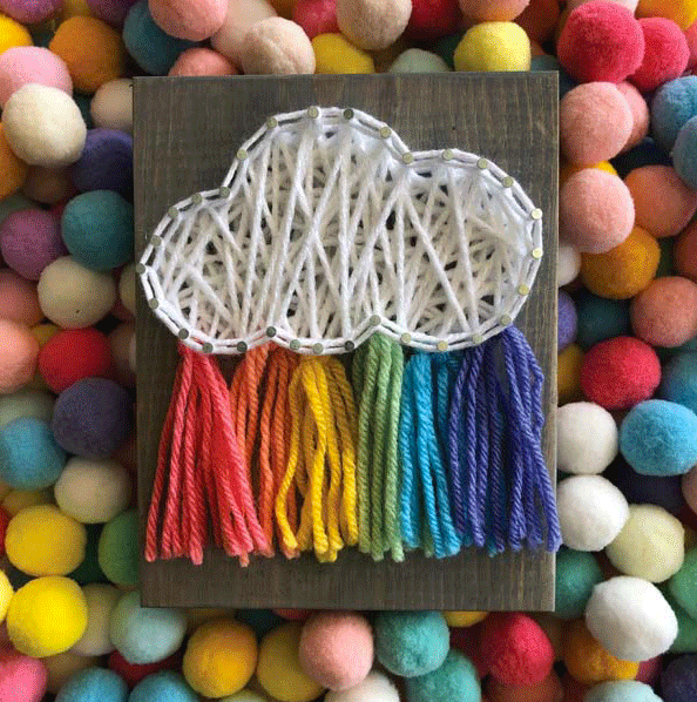 Rainbow Cloud Mini String Art Kit - DIY - Ellie & Becks Co.