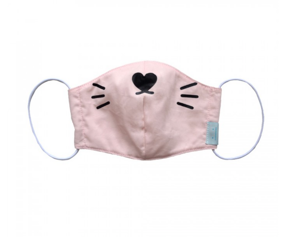 Face Mask | Ricemimi Cat Pastel Pink - Ellie & Becks Co.