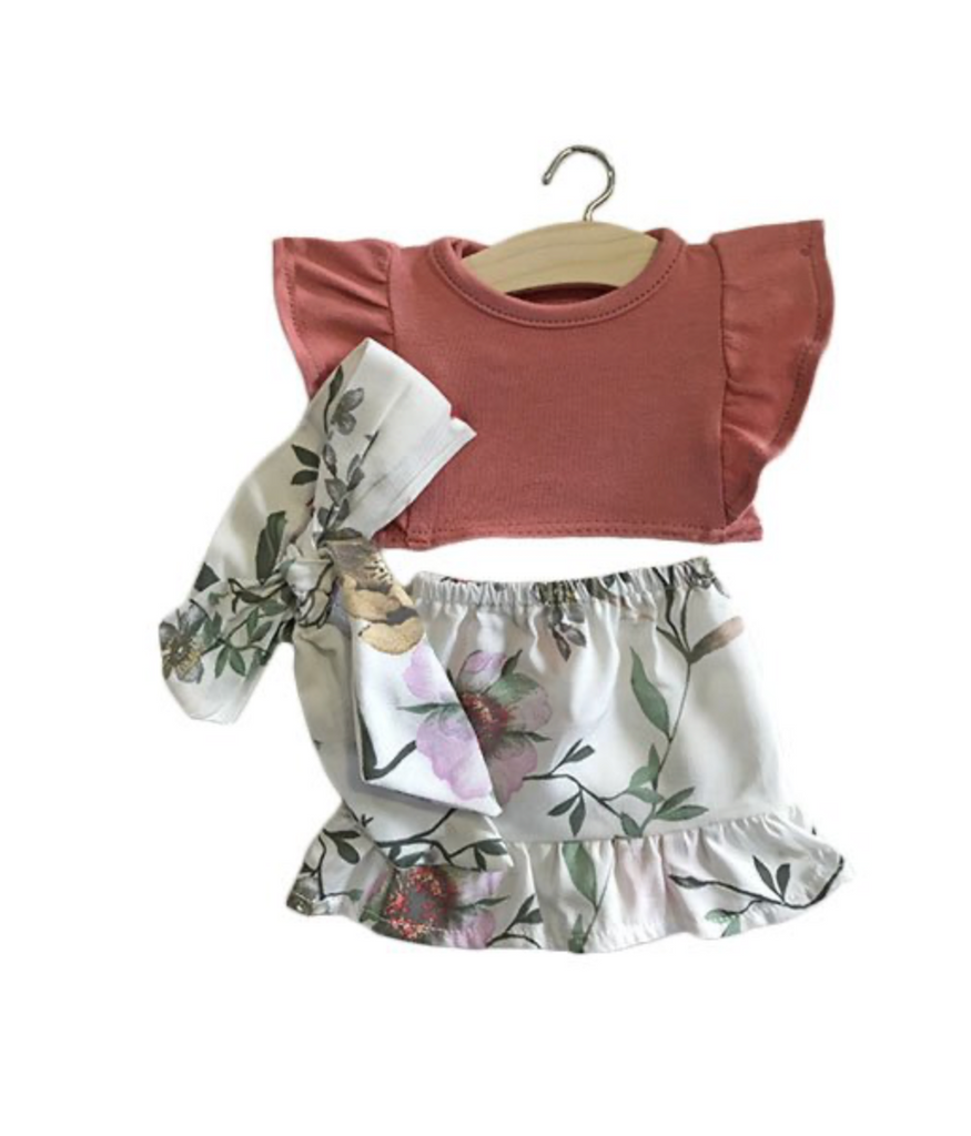 Minikane Floral 3-piece Set - Ellie & Becks Co.