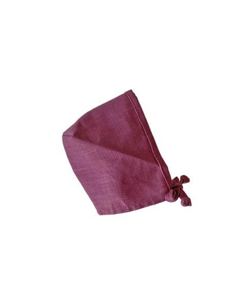 Minikane Linen Bonnet - Wine - Ellie & Becks Co.