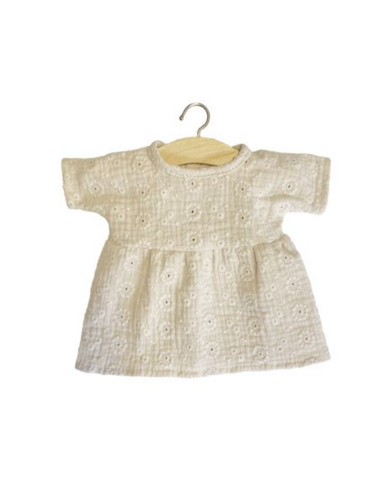 Embroidered Cotton Faustine Dress - Putty - Ellie & Becks Co.