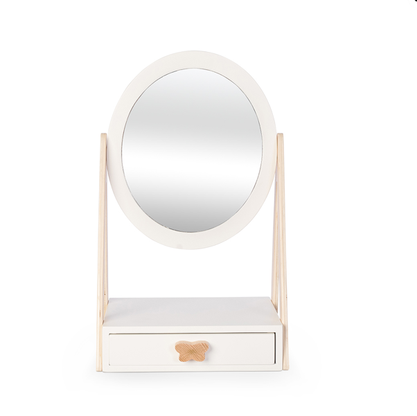 Table Mirror with Drawer - Ellie & Becks Co.