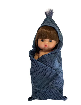 Doll Bath Towel Blue Square - Ellie & Becks Co.