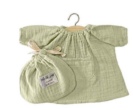 Jeanne dress Double Gauze in Pistachio - Ellie & Becks Co.