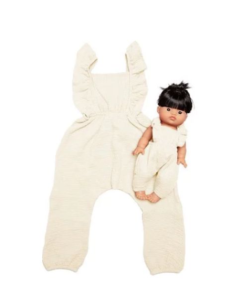 "Minikane DUO Collection-""MAYA"" jumpsuit  Ecru *PREORDER - Ellie & Becks Co."
