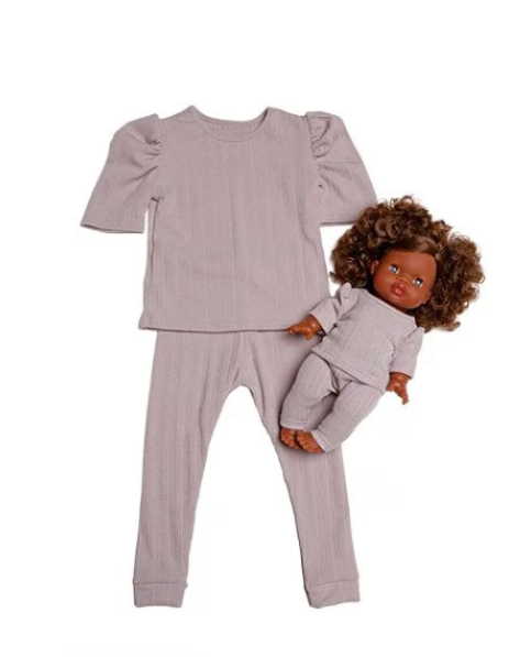 "Minikane DUO Collection-Ensemble ""MYA""  Gray *PREORDER - Ellie & Becks Co."