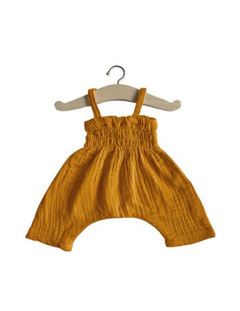 Bonnie Double Gauze Romper - Camel - Ellie & Becks Co.