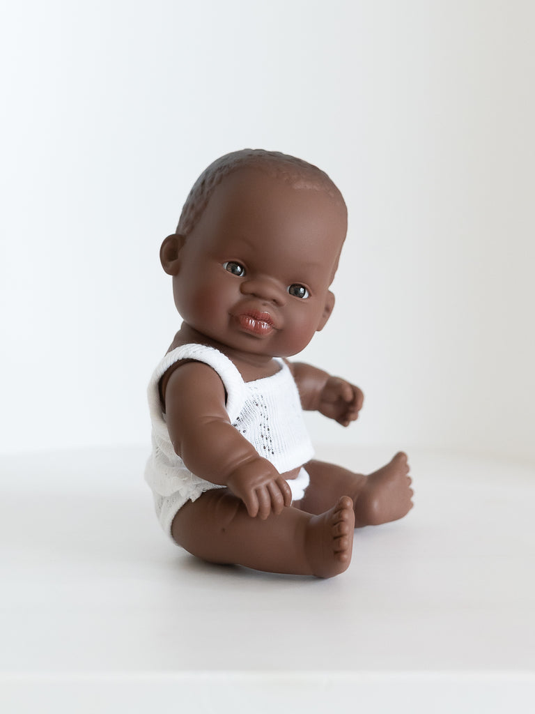 Miniland Newborn Baby Doll Black - Ellie & Becks Co.