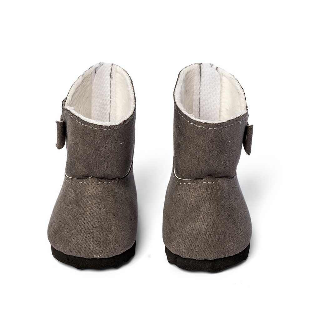 Doll Winter Boots Gray - Ellie & Becks Co.