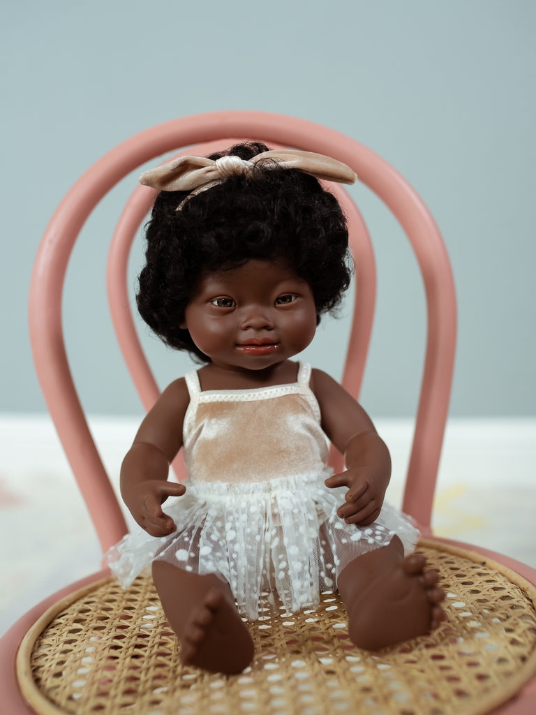 Miniland African American Girl w/Down Syndrome - Ellie & Becks Co.