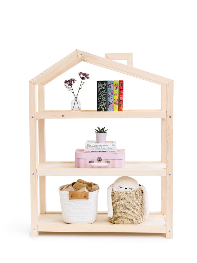 Aidan Wooden House Shelf - ellieandbecks