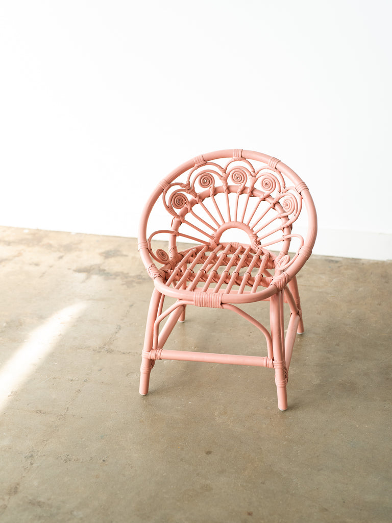 Dahlia Rattan Kids Chair - Ellie & Becks Co.