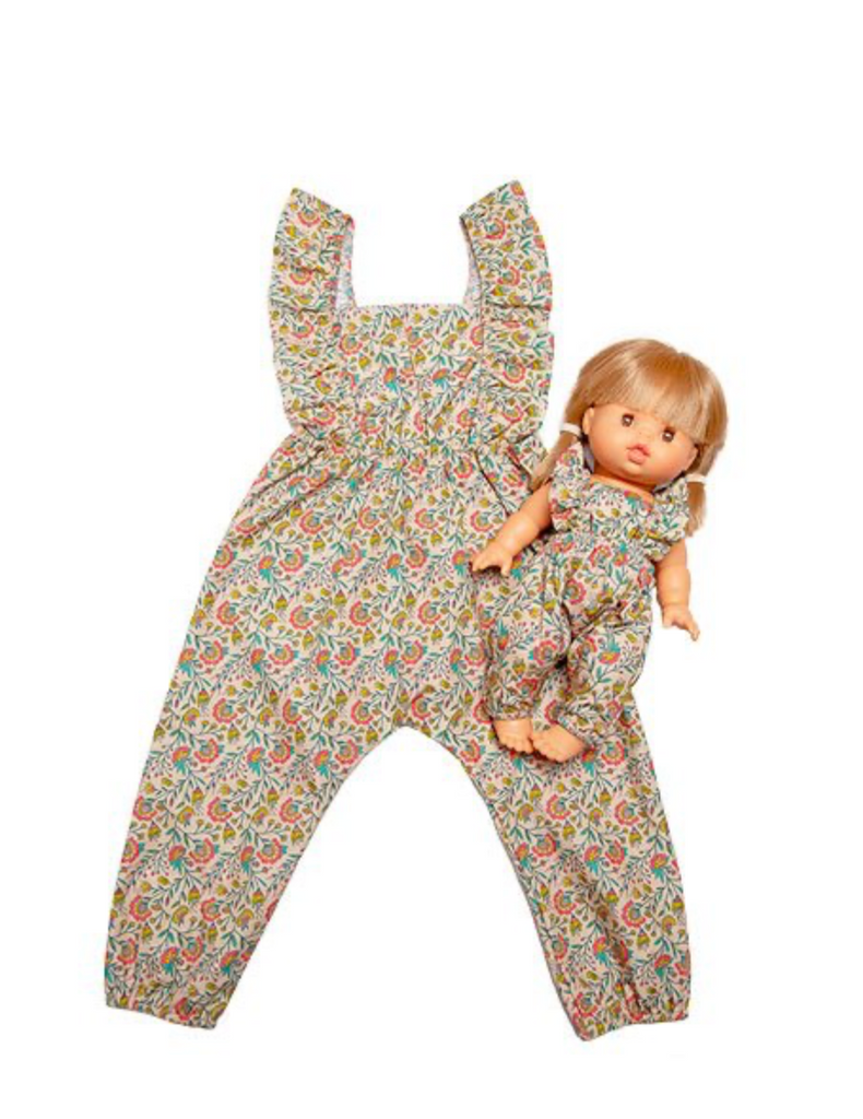 "Minikane DUO Collection-""MAYA"" jumpsuit Vine ( Liane) Flowers *PREORDER - Ellie & Becks Co."