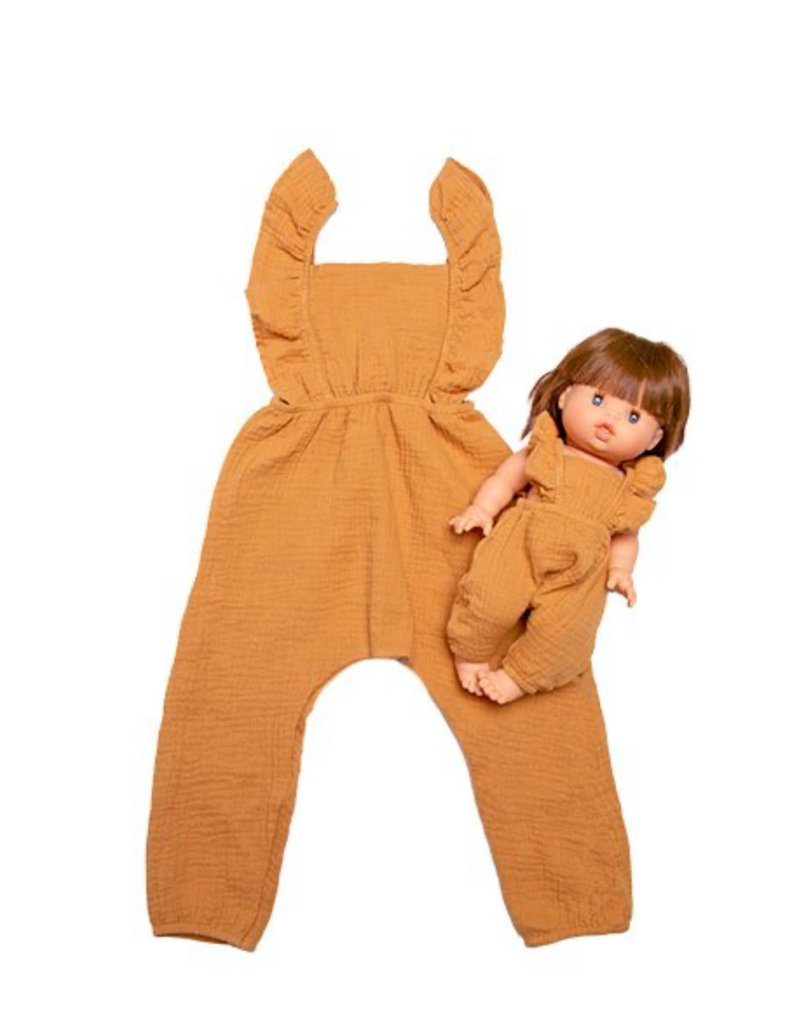 "Minikane DUO Collection-""MAYA"" jumpsuit Camel *PREORDER - Ellie & Becks Co."