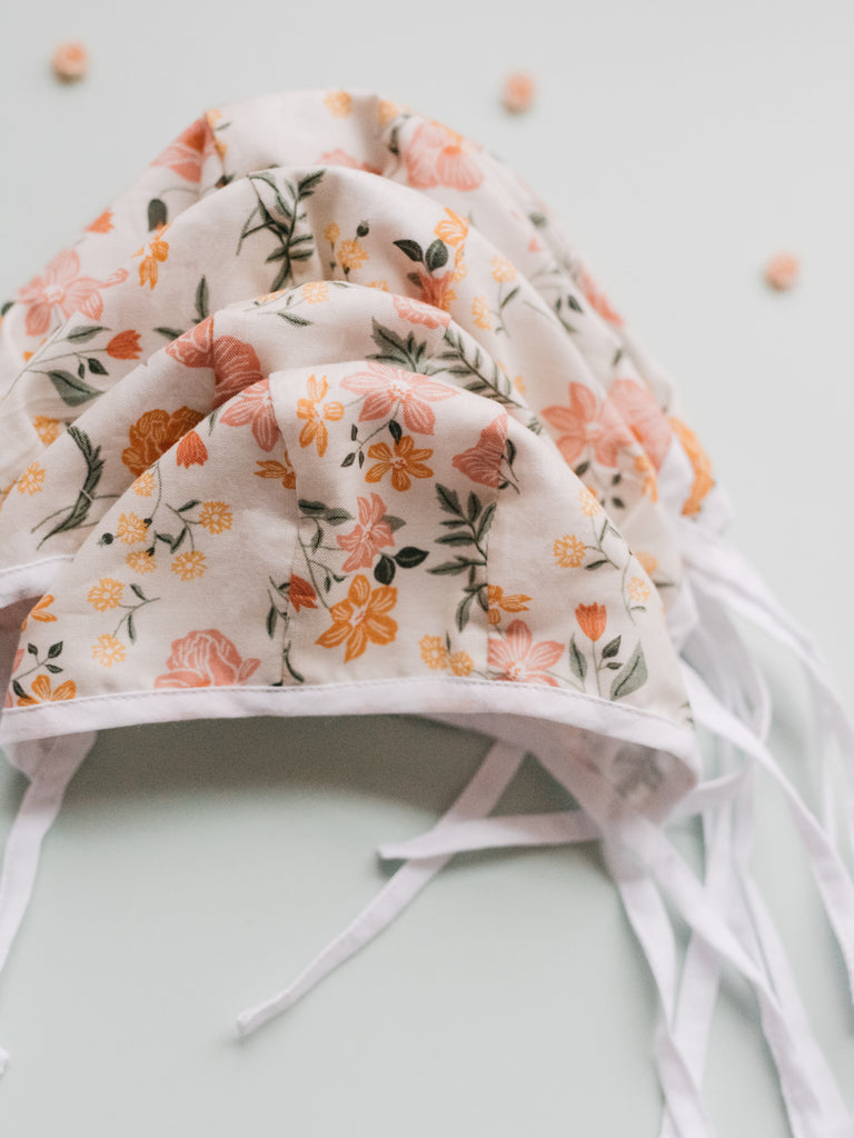 Floral Doll Bonnet - Ellie & Becks Co.