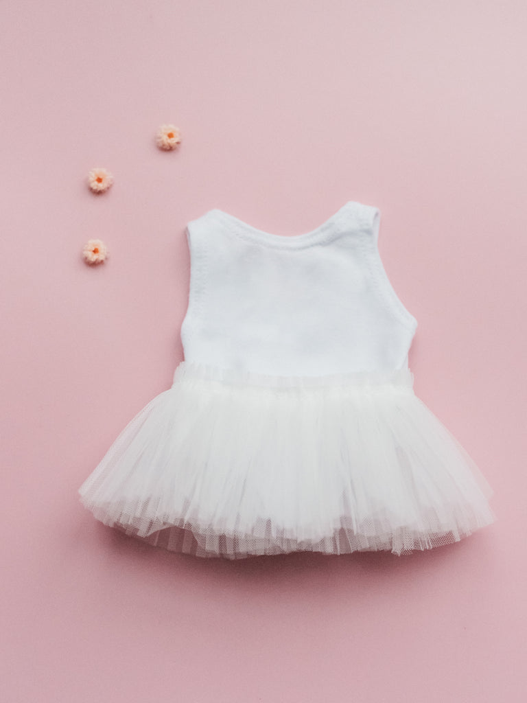 White Bodysuit & Tutu - Ellie & Becks Co.